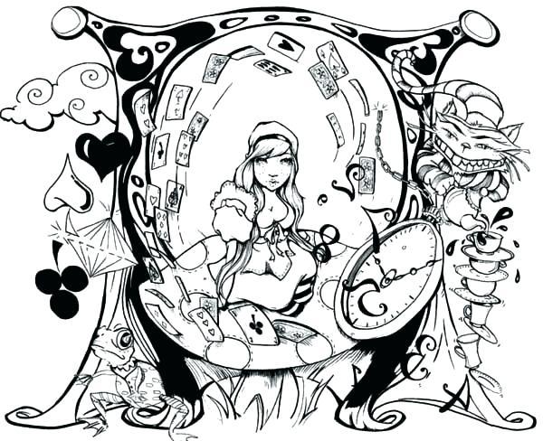 600x488 Tim Burton Coloring Pages Coloring Pages Wonderland