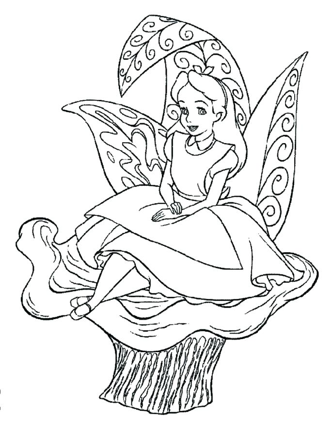 689x870 Alice In Wonderland Coloring Page In Wonderland Coloring Pages