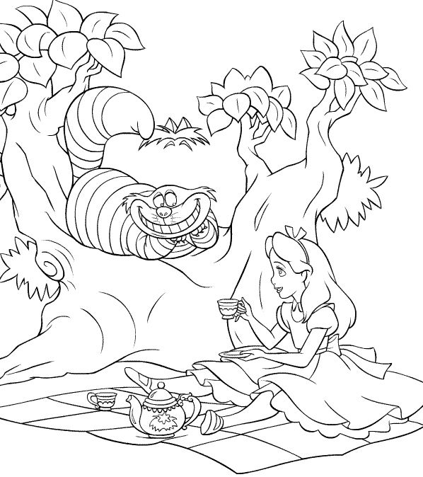 598x674 Alice In Wonderland Coloring Pages Tim Burton Coloring Pages
