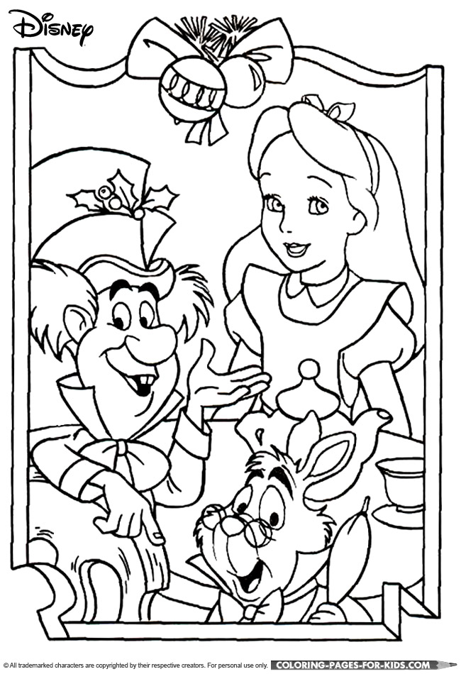 650x950 Disney Alice In Wonderland Coloring Pages