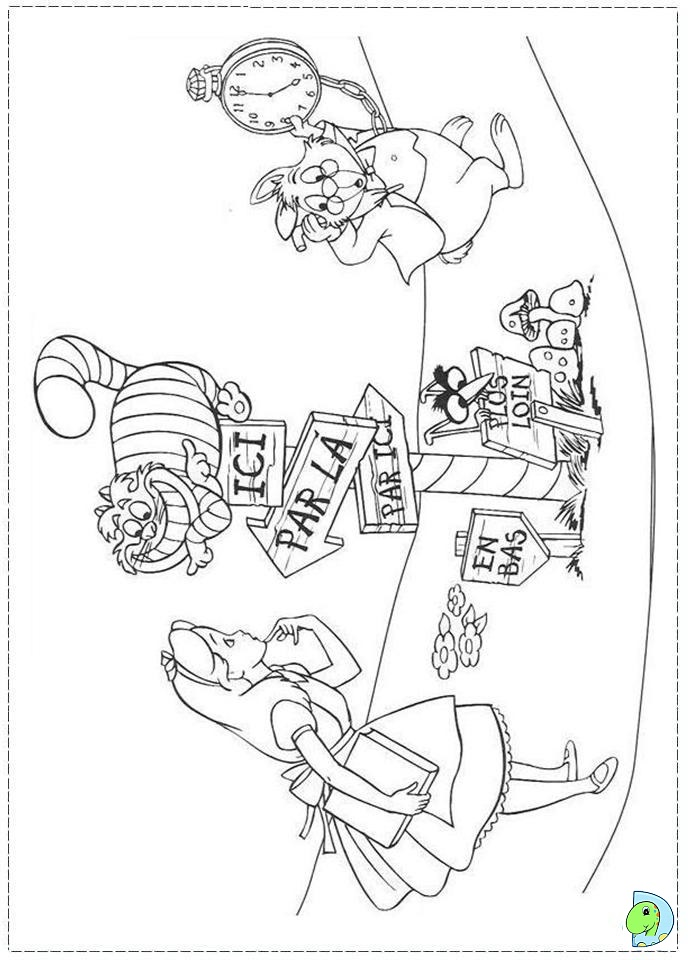 691x960 Fancy Alice In Wonderland Coloring Pages