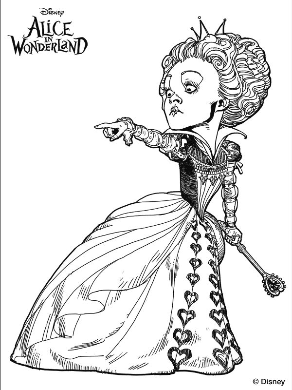 Alice In Wonderland Mad Hatter Coloring Pages