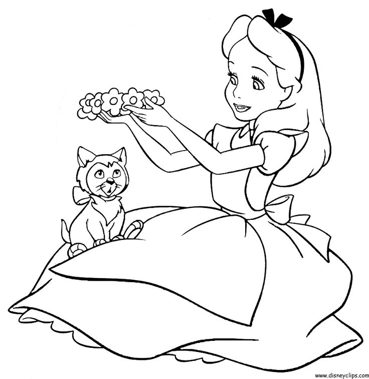 Alice In Wonderland Printable Coloring Pages