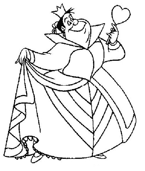 Alice In Wonderland Queen Of Hearts Coloring Pages