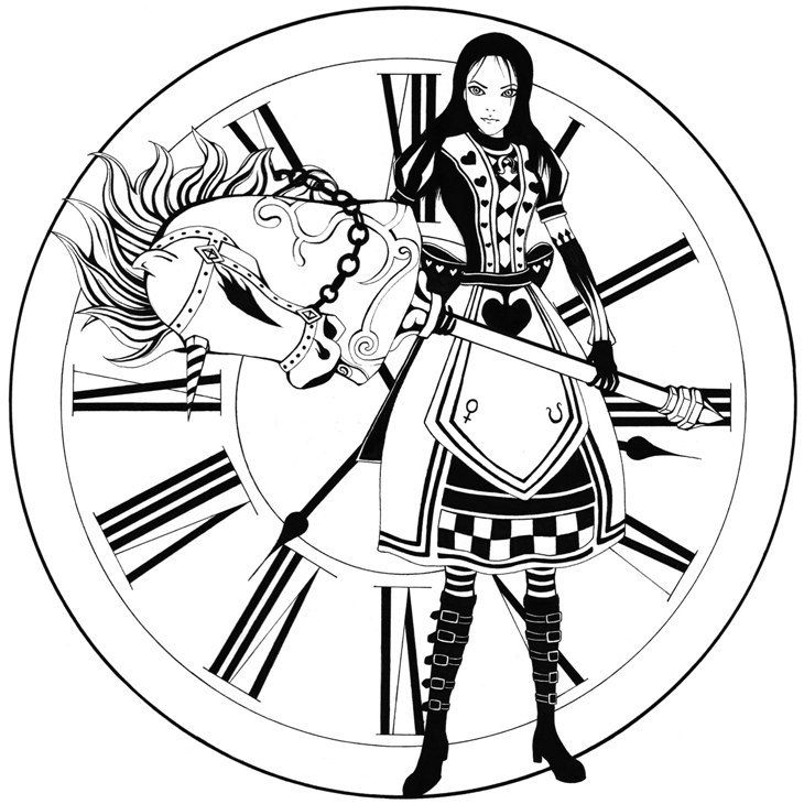 Alice Madness Returns Coloring Pages