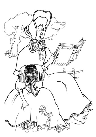 339x480 Alice In Wonderland Coloring Page