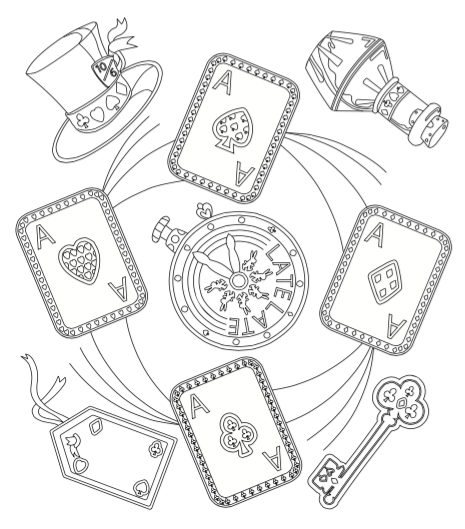 465x529 Alice In Wonderland Free Downloadable Coloring Page