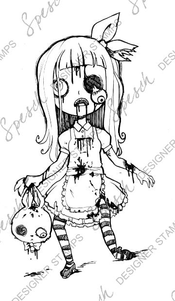 360x619 Zombie Alice Digital Stamp Alice, Zombie, Zombieland, I Want
