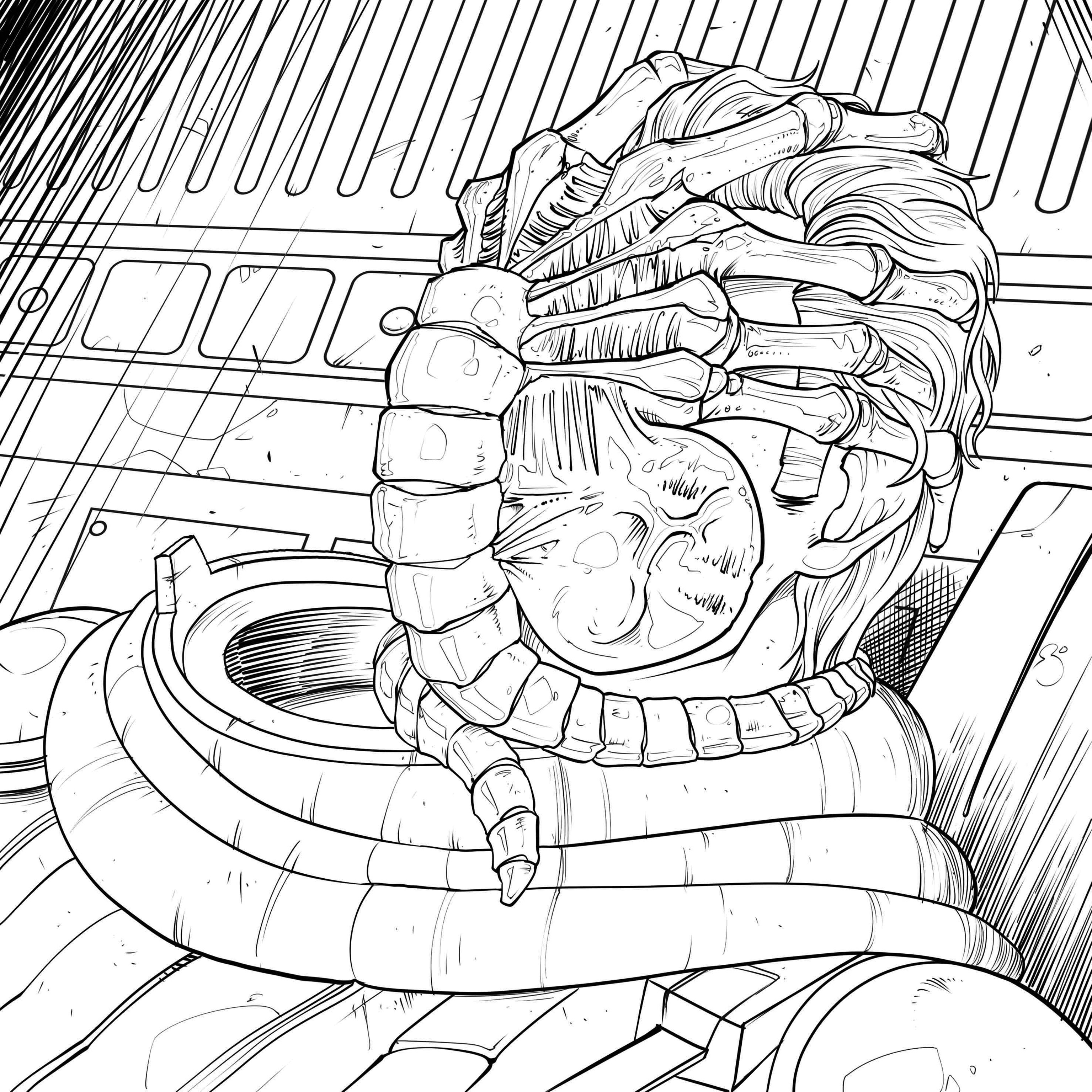 3071x3071 Fresh Four Exclusive Alien Coloring Book Pages Bloody