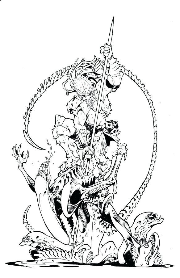 583x900 Predator Coloring Pages Alien Vs Predator Coloring Pages Alphabet