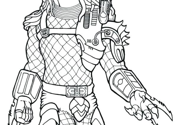 Alien Vs Predator Coloring Pages At Getdrawings Free Download