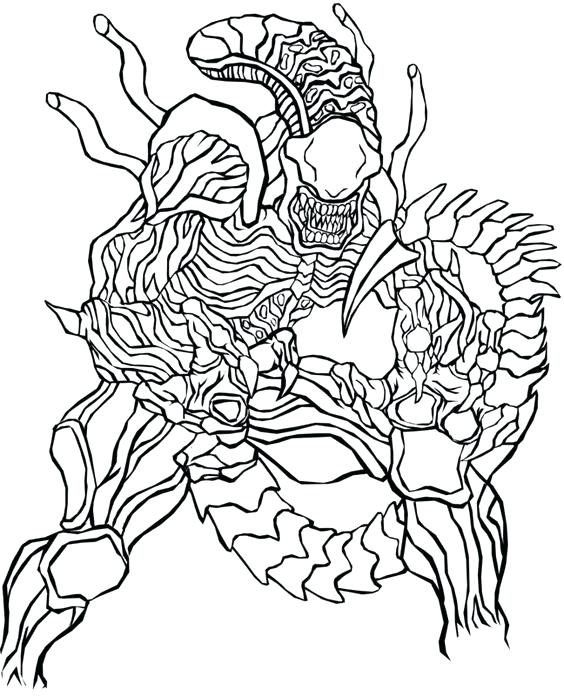 564x696 Alien Coloring Pages Alien Vs Predator Colouring Pages Coloring