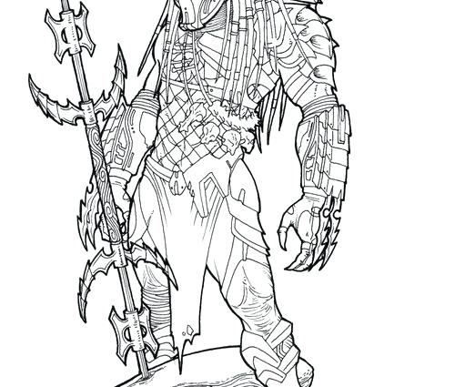 500x425 Predator Coloring Pages X Alien Vs Predator Coloring Pages