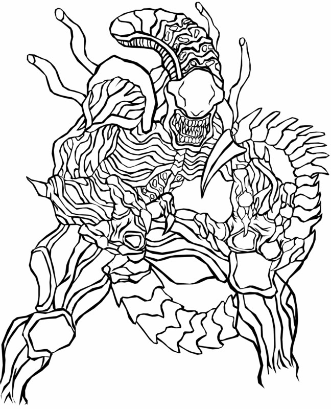 648x800 Alien Vs Predatorvm Colouring Pages Coloring Pages For Adults