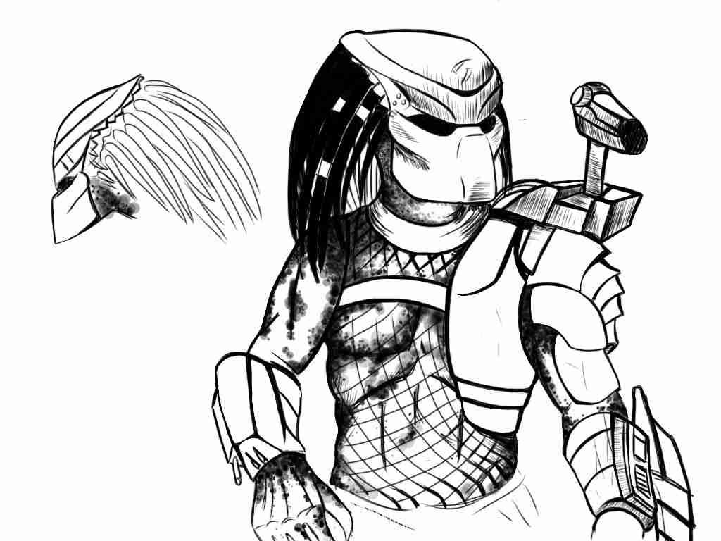 1024x768 Alien Vs Predator Coloring Pages Olegratiy