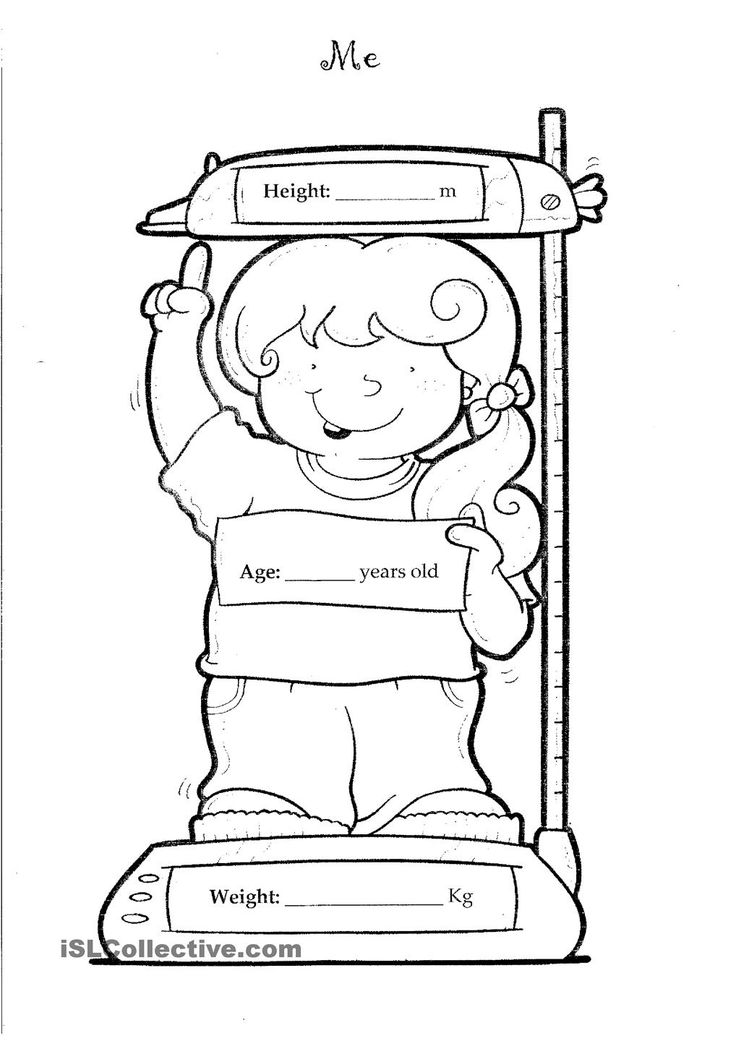 All About Me Coloring Pages For Preschoolers