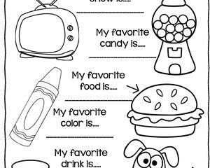 300x240 All About Me Coloring Pages Worksheets Free All About Me Unit