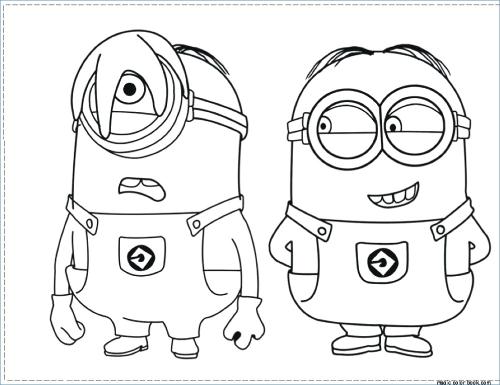 998x768 Minion Girl Despicable Me Coloring Pages