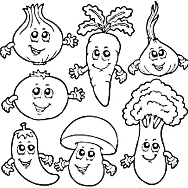 616x618 Preschool Coloring Pages Vegetables Coloring Pictures