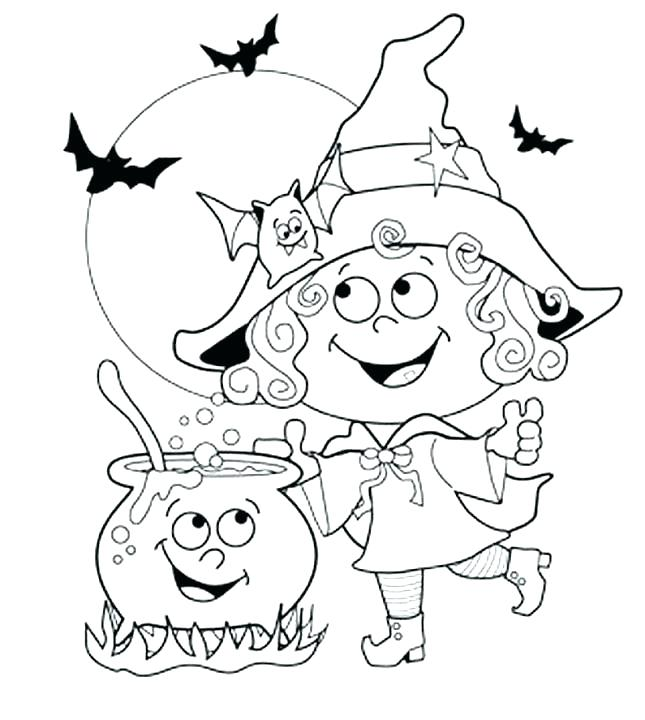 645x720 Halloween Coloring Pages For Toddlers