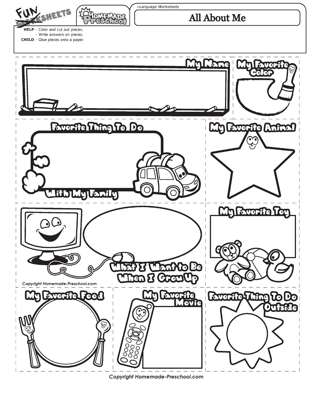 1000x1294 All About Me Coloring Pages Discover