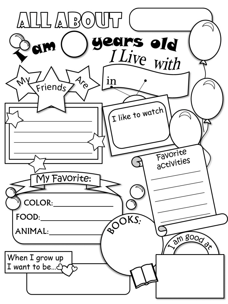 768x1024 All About Me Coloring Pages Lovely For Preschoolers Wagashiya