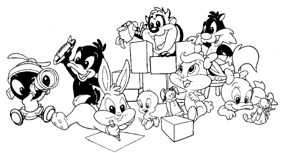 990x540 Baby Looney Tunes Cartoons Printable Coloring Pages