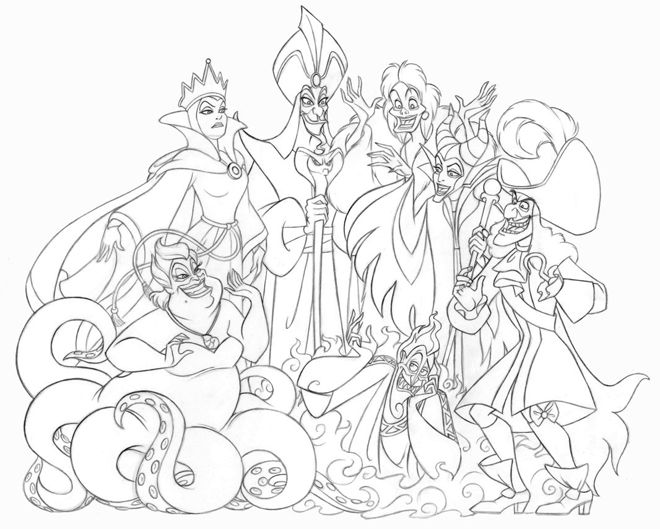 All Disney Characters Coloring Pages