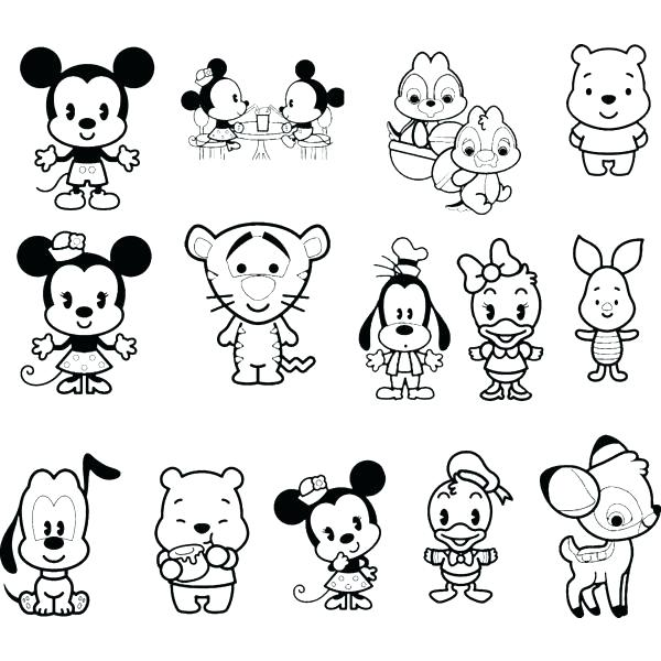 600x600 Ideas Disney Characters Coloring Pages For Cute Baby Characters