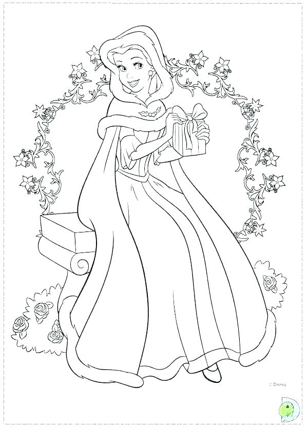 600x834 Disney Princess Coloring Pages Online For Free Book Together