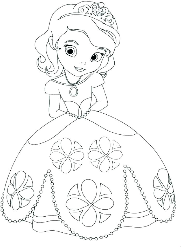 698x950 Coloring Pages Disney Princesses