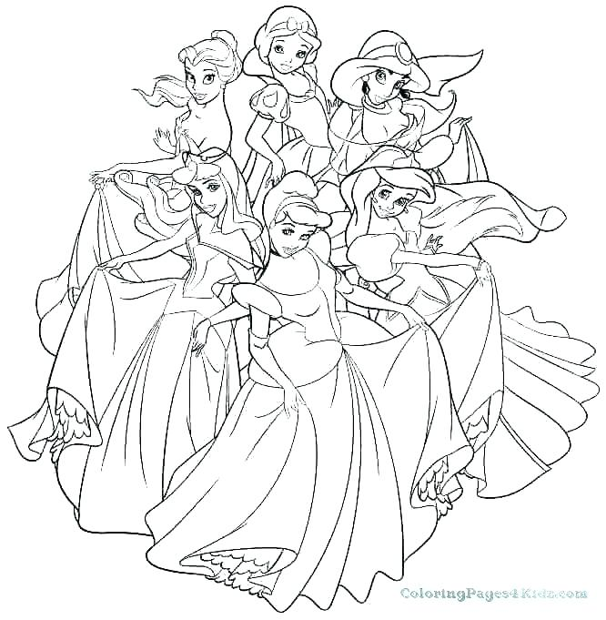 666x681 Disney Princess Coloring Pages