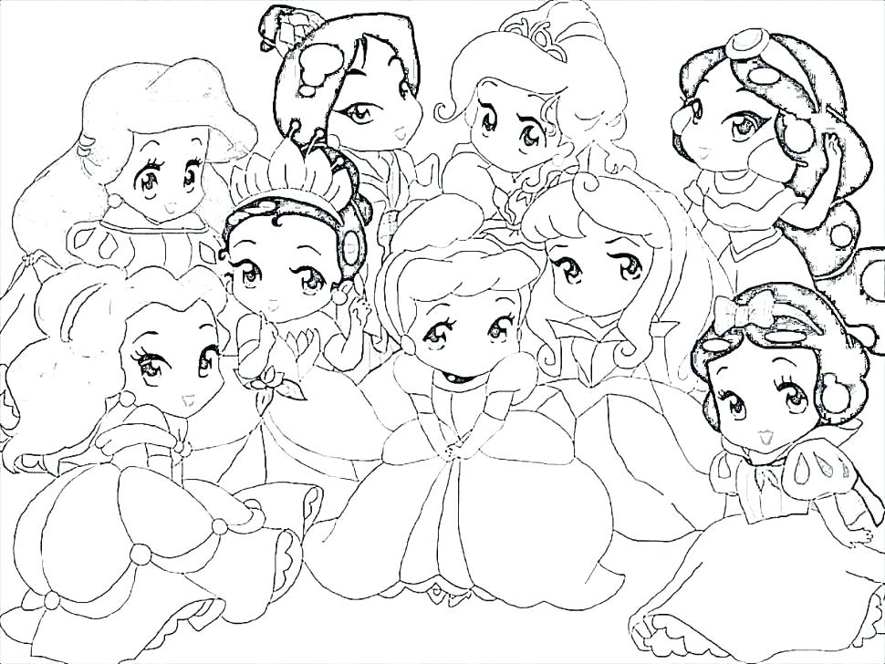 970x728 All Princess Coloring Pages Princess Coloring Page All Princesses