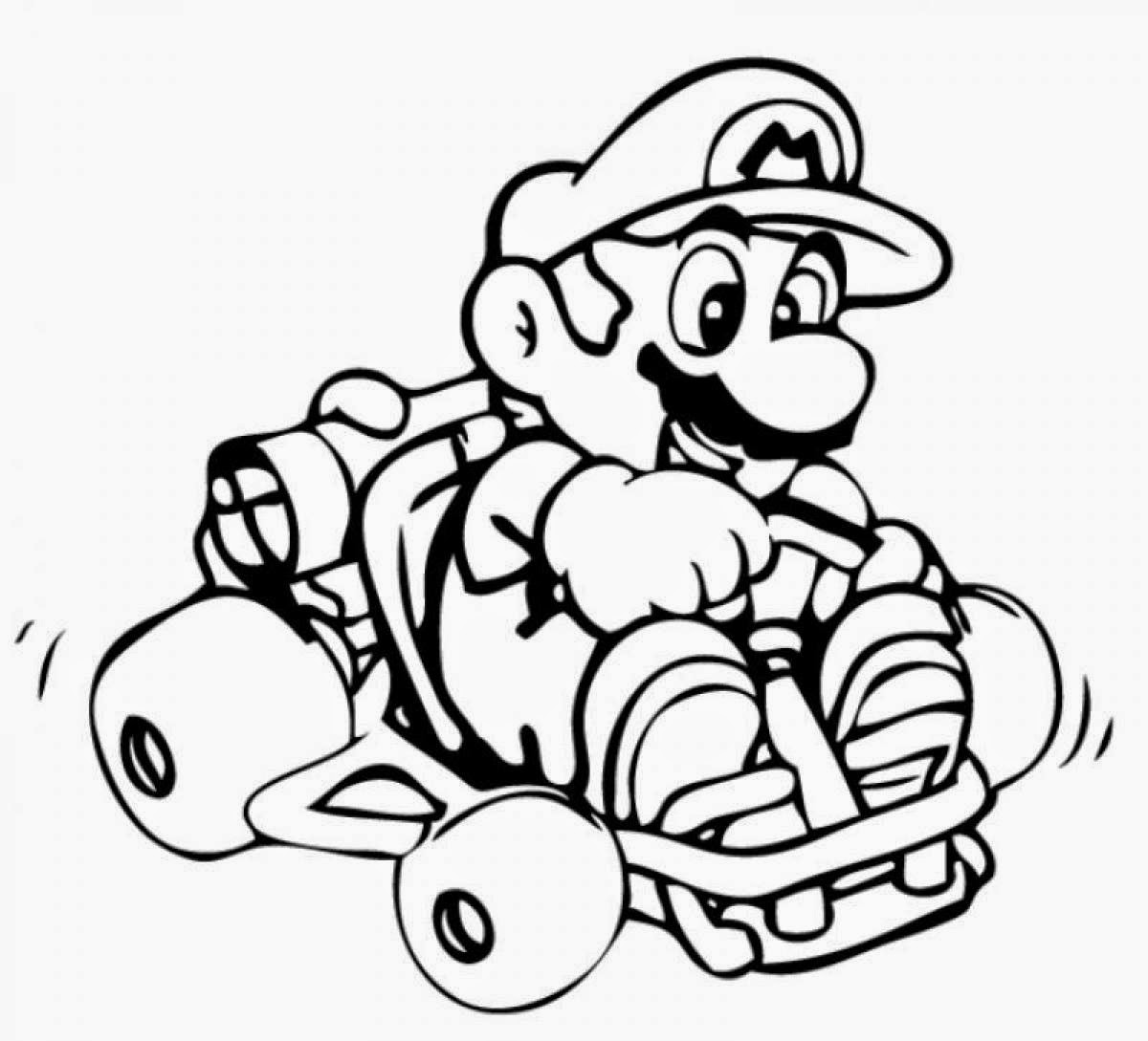 All Mario Characters Coloring Pages At Getdrawings Com Free For