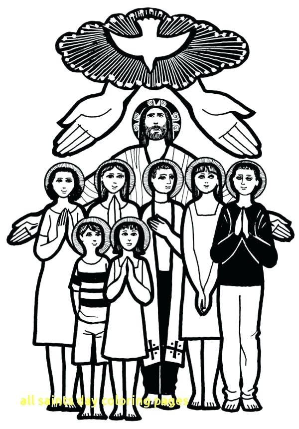 600x860 All Saints Day Coloring Pages Printable All Saints Day Coloring