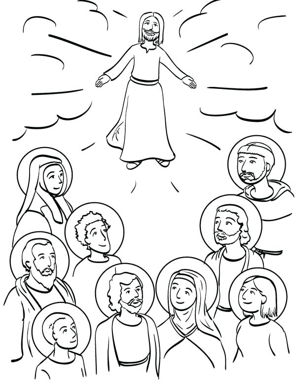 600x776 All Saints Day Coloring Pages Printable Coloring Page All Saints