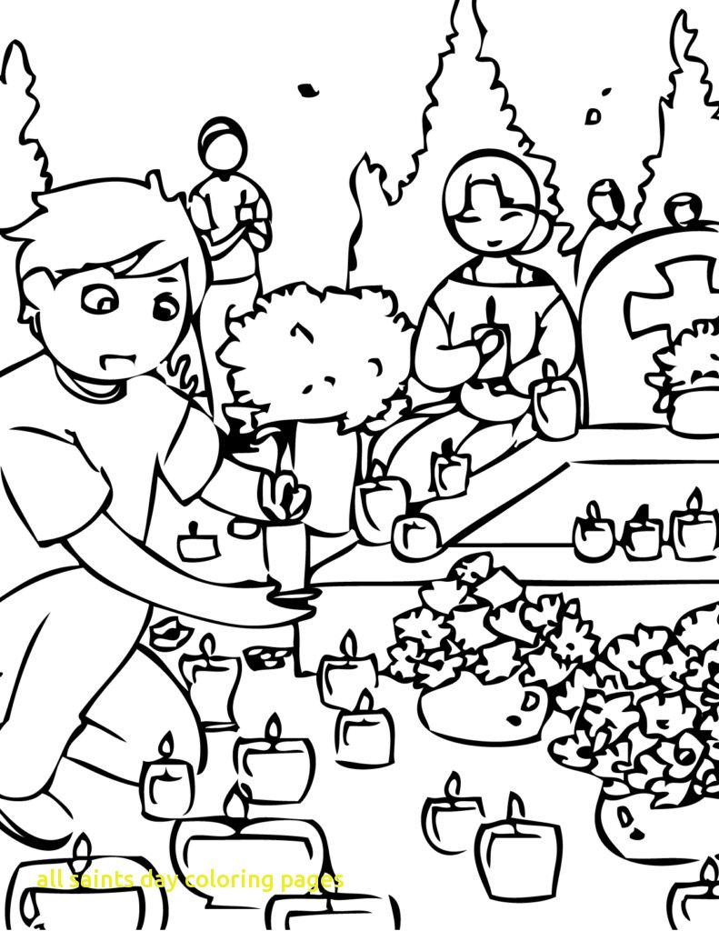 791x1024 All Saints Day Coloring Pages