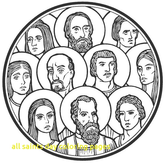 570x559 All Saints Day Coloring Pages With Catholic Saint Coloring