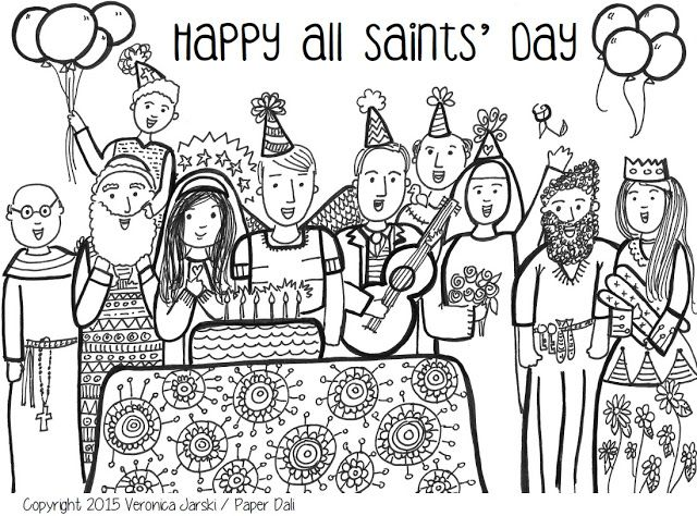 640x474 All Saints' Day Coloring Page Free To Print! Saints And Angels