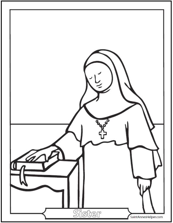 590x762 Catholic Saint Coloring Pages