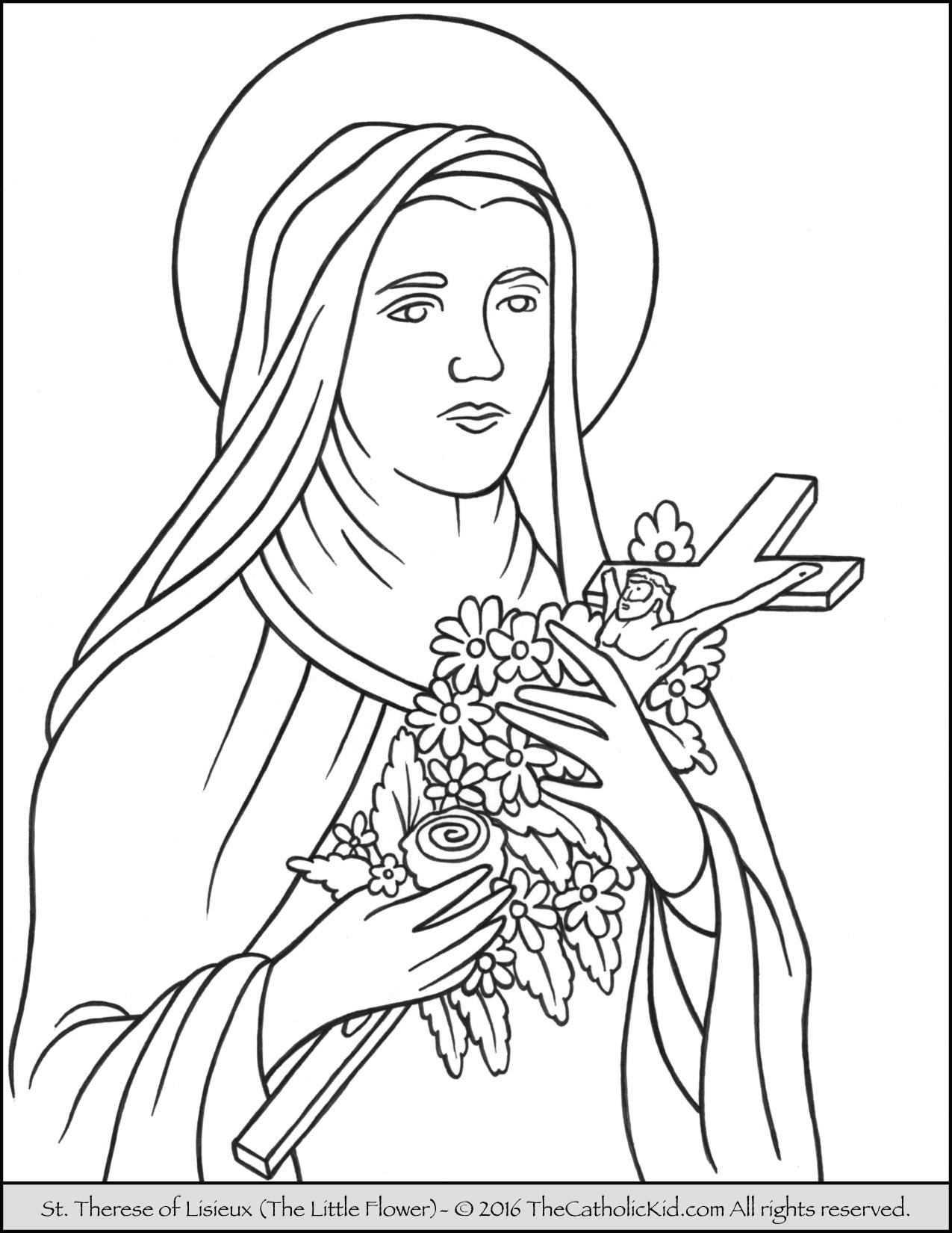 1275x1650 Saint Therese Of Lisieux