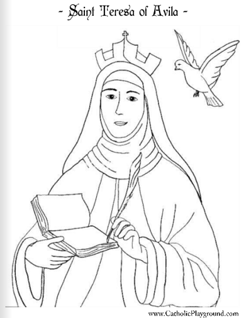 356x461 Saints Coloring Pages Catholic Playground