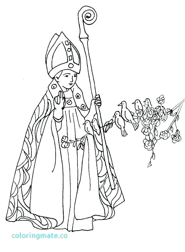 642x870 Street Coloring Pages All Saints Day Coloring Page St Coloring
