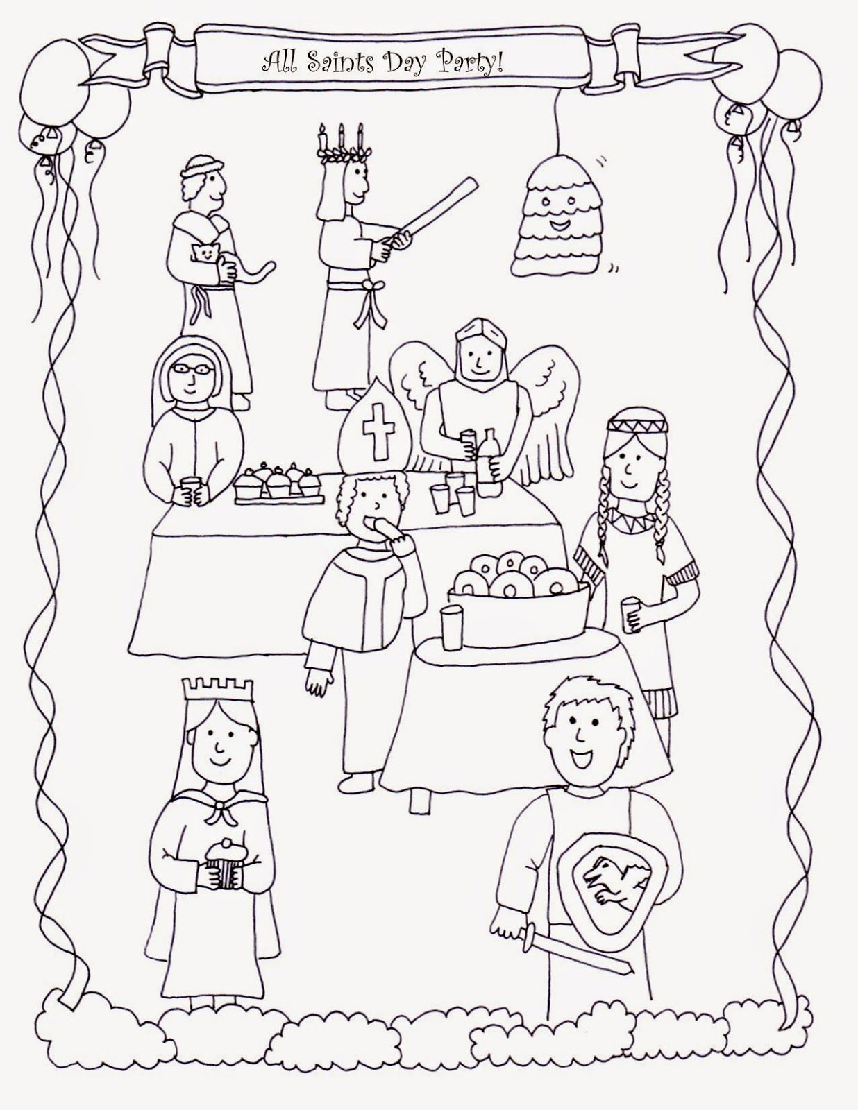 1236x1600 All Saints Day Coloring Pages