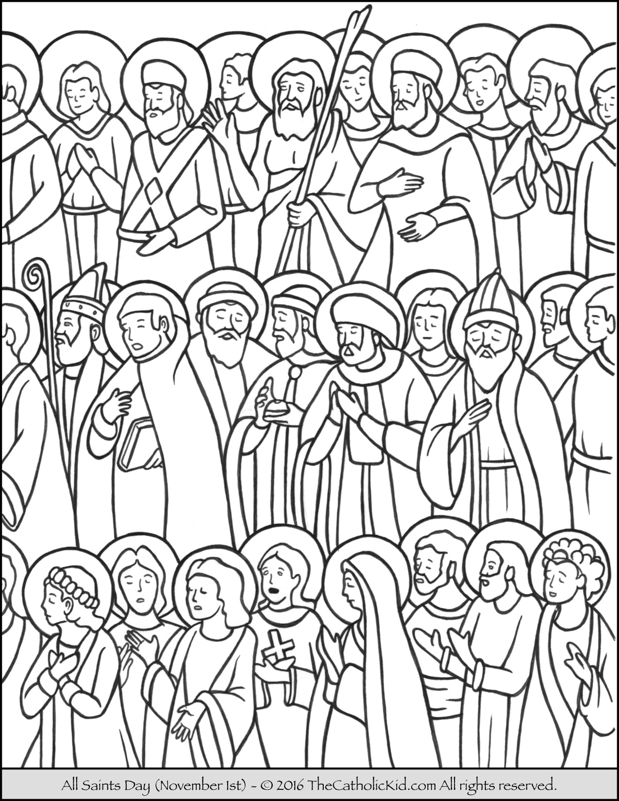 1275x1650 All Saints Day Coloring Page