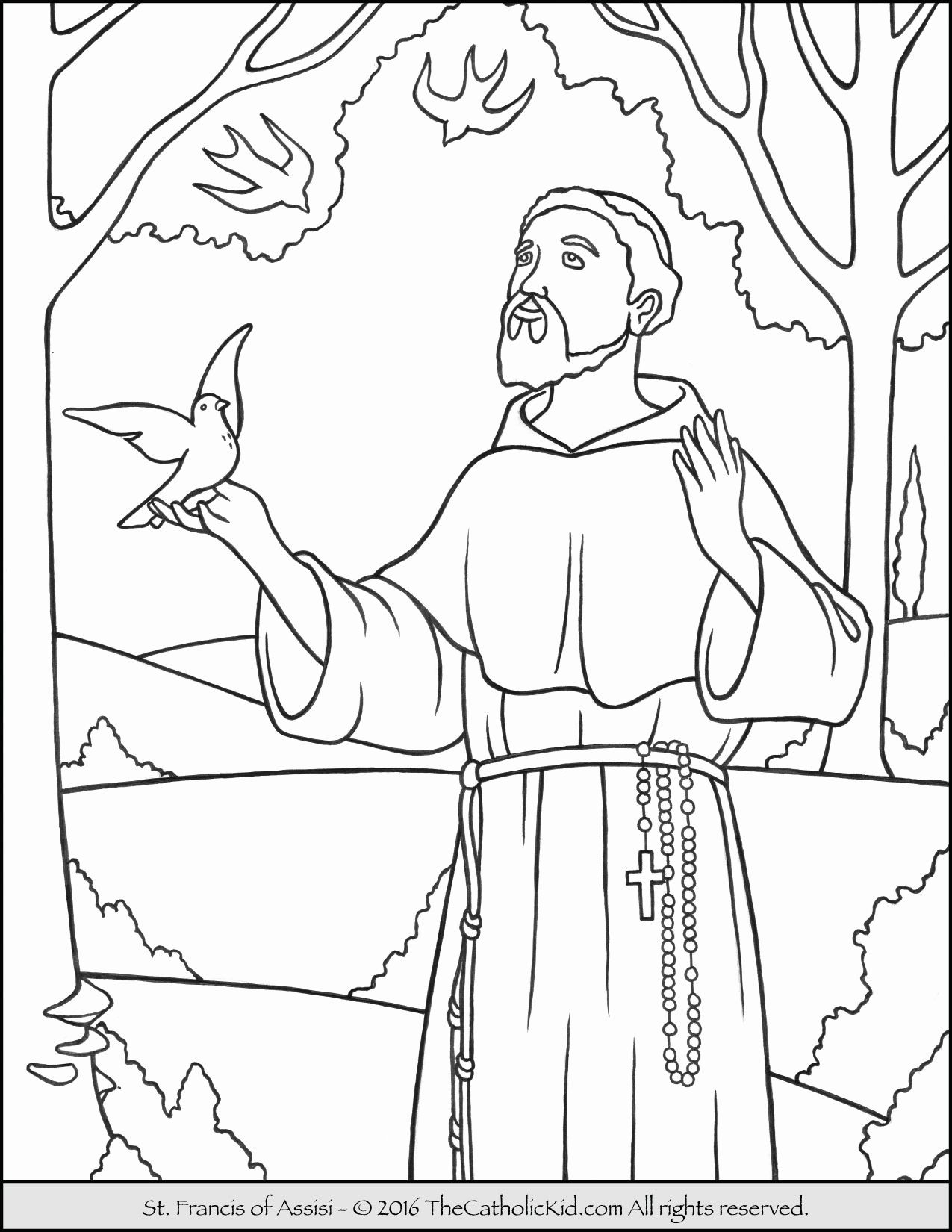 1275x1650 All Saints Day Coloring Pages