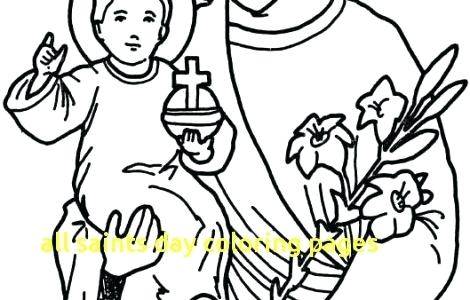 470x300 All Saints Day Coloring Pages Catholic Saints And All Saint S Day