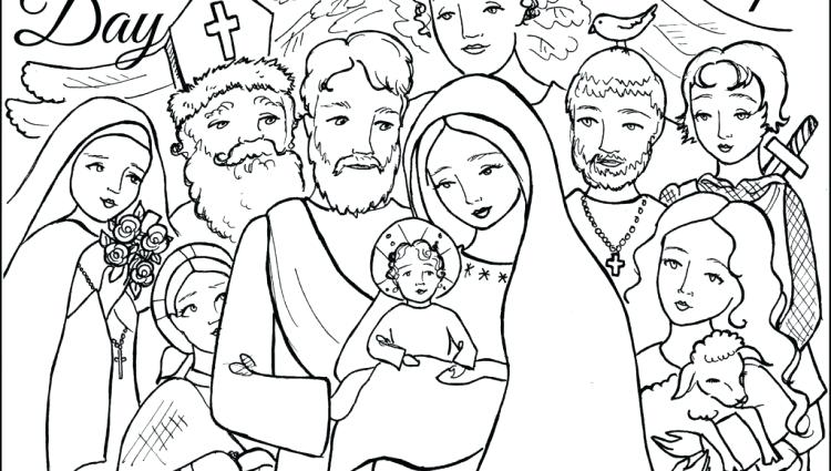 750x425 All Souls Day Coloring Pages Coloring Page All Saints Day Holidays