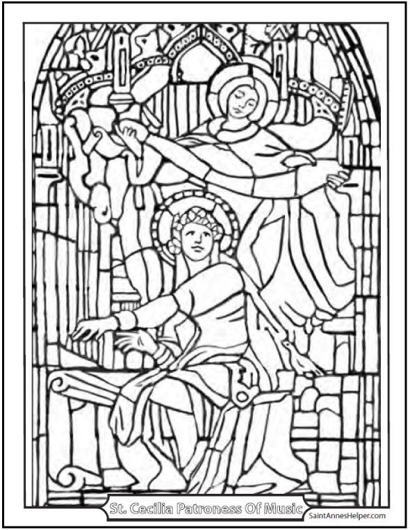 590x762 Catholic Saint Coloring Pages