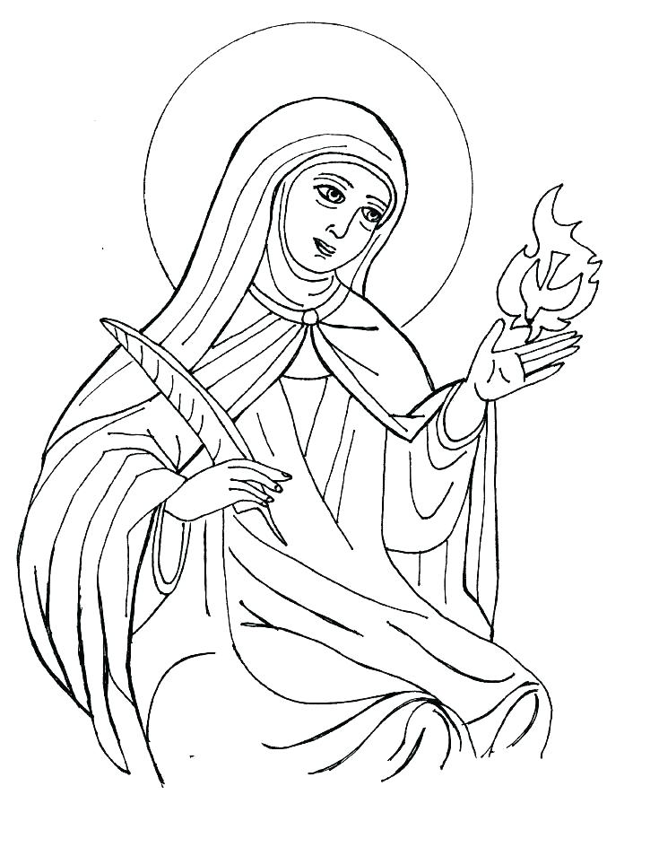 735x954 Coloring Pages Of Saints All Saints Day Coloring Pages All Saints